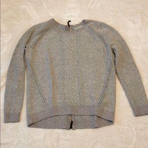 Hinge pink zip-back sweater